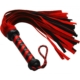 Red and black suede flogger